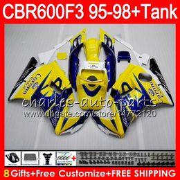 $enCountryForm.capitalKeyWord Canada - 8 Gifts 23 Colors For HONDA CBR600F3 95 96 97 98 CBR600RR FS CORONA Yellow 2HM3 CBR600 F3 600F3 CBR 600 F3 1995 1996 1997 1998 blue Fairing