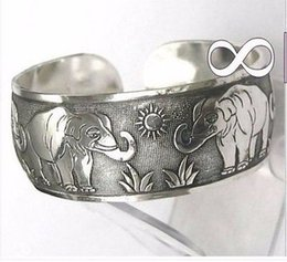 China Made Silver NZ - HAND MADE Tibetan Tibet silver Totem Bangle Cuff Bracelet & GIFT ADDED