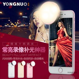 Wholesale by dhl Yongnuo YN Round Portable Pocket Mini Spot Sell Fill Light Mobile phone LED Auto Flash for Iphone s Plus