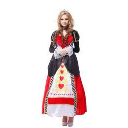 red heart queen 2019 - Shanghai story Red Queen princess costumes, women noble queen cosplay costumes, queen of hearts halloween costume for 15