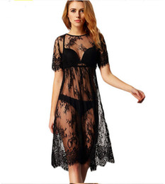 Chinese  White Black Long Lace Dresses Beach Photography Dress Overall on Beach Bathing Suit Props Fancy Summer Nightdress ouc258 manufacturers
