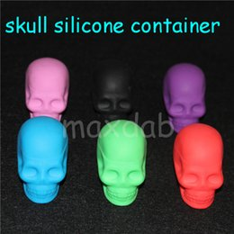 $enCountryForm.capitalKeyWord NZ - 2016 Cool Design Silicone Skull Container 15ml Non-stick Silicone Jars Dab Wax Vaporizer Oil Container 1pcs lot