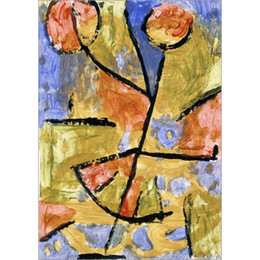 China Modern art Dancing Flower Paul Klee oil paintings Reproduction High quality hand-painted home decor cheap modern art canvas painting flowers suppliers