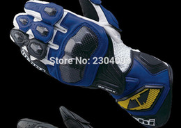 Leather Gloves Rs Taichi Australia - Free shipping RS Taichi NXT047 GPWAX racing gloves Carbon Genuine Leather Long Design Automobile Race Motorcycle Gloves Guantes