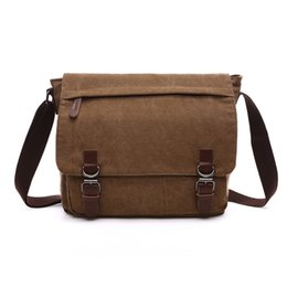 Fashion messenger bags Crossbody bag Flapover laptop bag Ipad canvas day  packs for boys young men Straps Medium Large 2017 new hotsale afe6e92984