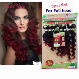 burgundy curly human hair weave NZ - 8pcs lot human hair extensions brazilian kinky curly hair weaves MARLEY 250g body wave hair weaves,SEW IN burgundy color weave bundles