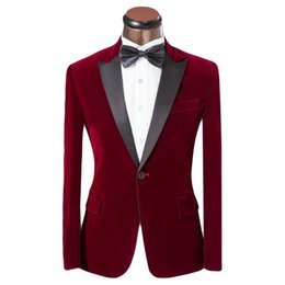 Barato Casaco Azul Real Para Homens-2016 novo Lastest Coat Design Men Suit Red and Blue Tuxedo Fashion Brand Men Slim Fit Casaco Casacos De Noiva Para O Noivo XS-6XL