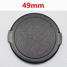 C Lens Canada - Wholesale-Wholesale 30pcs lot 49mm Camera Lens Cap Protection Cover Lens Front Cap for S C N 49mm DSLR Lens free shipping