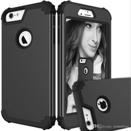 heavy duty plastic bags wholesale Canada - For iPhone 7 6S 6 Plus For S8 Plus Hybrid Heavy Duty Shockproof Full-Body Protective Case With Silicone PC 3 Layer Impact Protection OPP Bag