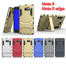 SamSung S7 iron man online shopping - For Samsung galaxy s6 edge note5 s7 Hybrid Armor Iron Man Armor defender Case Support protection shell Shockprooof Kickstand Dirt Proof Case