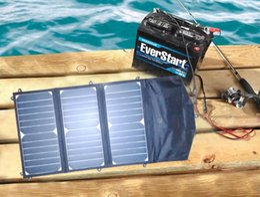 Portable Laptop Solar Panels Canada - 20 Watt Portable Folding Solar Panel Battery Charger 12V
