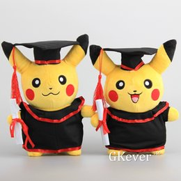 "Discount rilakkuma gifts - New Pikachu Cosplay Stuffed Animal Dolls Cute Rilakkuma Graduate Fitting Gift Plush Toys 11"" 27Cm"