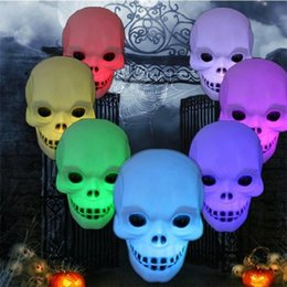 kids battery lamps 2019 - 6pcs lot New Colorful xmas holiday LED Little skull head Night Light Decoration Candle Lamp Nightlight great gift for ki