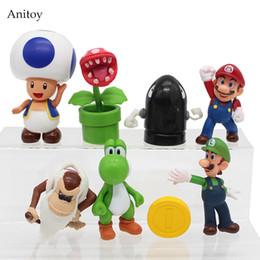 $enCountryForm.capitalKeyWord NZ - 8pcs set Super Mario Bros Mario Yoshi Luigi PVC Figure Collectible Toy 3-9cm KT4161