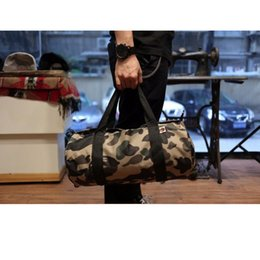 online shopping Large Capacity Travel Duffle Striped Unisex canvas Outdoor One Shoulder Cycling Bags Camouflage Crossbody Bag