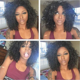 cheap good wigs NZ - kinky curly wigs for black women Simulation Human Hair short curly full wig cheap good quality free shipping in stock