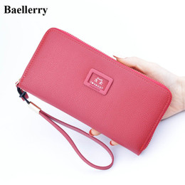 $enCountryForm.capitalKeyWord Canada - Brand Leather Wallets Women Clutch Wristlet Phone Wallets Female Purses Zipper Long Coin Purses Girls Money Bags Card Holders
