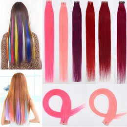 Discount pink hair tape 2018 pink tape hair extensions on sale brazilian burgundy pink red tape in hair extensions remy human hair crochet silky straight pu tape skin weft hair extension 30g 20bundles pmusecretfo Choice Image