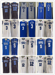 583c85a2977 usa duke blue devils college basketball jerseys cheap 3 grayson allen 5  tyus jones 12 justise