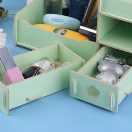 $enCountryForm.capitalKeyWord Canada - Wooden Desktop DIY Cosmetic Makeup Storage Box Case Organizer Container Jewelry Things Storage Holder