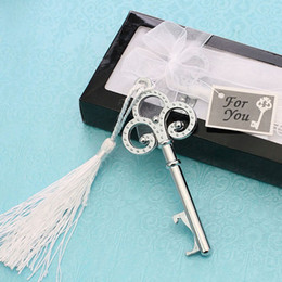 Boucles D'oreilles Pas Cher-Fashion Silver Key To My Heart Collection Metal Porte-clés Ring Bottle Opener Wedding Favors Cadeau ZA4672