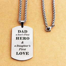 $enCountryForm.capitalKeyWord NZ - Stainless Steel Pendant Necklace Dog Tags Father's Day gift Letter Engraved Military Titanium Steel Jewelry Necklaces