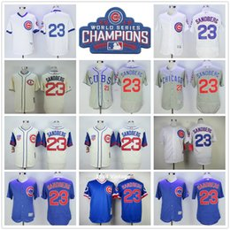 9f1cea213 ... Mitchell Ness Mens Chicago Cubs Baseball Jersey 23 Ryne Sandberg Jersey  Vintage 1988 Cooperstown Jerseys White Blue Grey ...