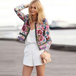 Vintage Floral Printed Short Ladies Jacket Online | Vintage Floral ...