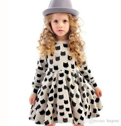 Wholesale Baby girls princess skirt in autumn INS hot selling autumn party dress girls christmas dresses kids Black and white dot Princess Dress