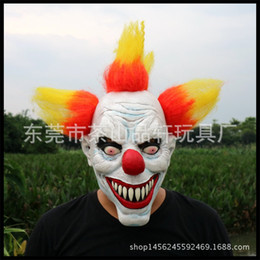 Discount scary adult clown costumes - Hot New Funny Party Cosplay Scary Clown Mask Full Face Cosplay Horror Masquerade Adult Ghost Mask Halloween Props Costum