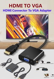 Video composite online shopping - 1080P HDMI To VGA Converter Audio Video Cables DP Display Port Male to VGA Female Converter Adapter Cable By DHL