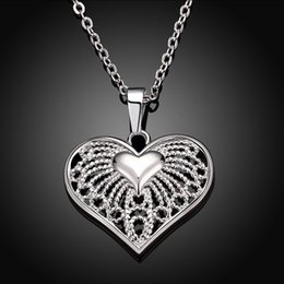 $enCountryForm.capitalKeyWord Canada - 2017 Brand New Fashion Luxury Silver Plated Heart Shaped Pendant Zircon Necklace Crystal Chain Jewelry Gift For Women