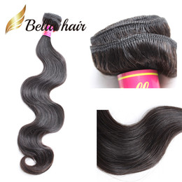 Top ouTleTs facTory online shopping - Bella Hair A Top Brazilian Hair Bundle Double Weft Virgin Human Hair Extensions Bella Hair Factory Outlet Cheap pc Retail Body Wave
