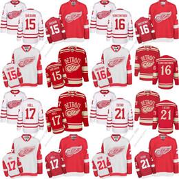 Men s Detroit Red Wings 15 Riley Sheahan 16 Konstantinov 17 Brett Hull 21 Tomas  Tatar 2017 Centennial Classic Hockey Jerseys cbef2b56f