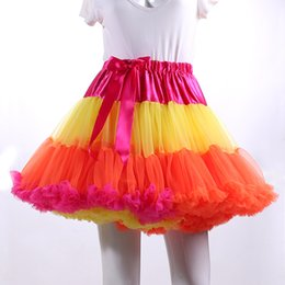 Photos De Robe De Danse Pas Cher-Fashion Tulle Tulle Tutu Femme Jupes courtes 2017 Real Photo Haute taille Lady Dance Jupes Hot Sale Dress Petticoats
