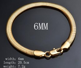 $enCountryForm.capitalKeyWord Canada - fashion Classic men woman plated 925 silver Bracelet 6mm*8 inches flat Snake chain Bracelet 10pcs lot
