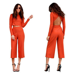 Wholesale sexy pants wide leg jumpsuit resale online – Women s Summer Jumpsuit Set Long Flare pants Strapless Crop Tops High Waist Wide Leg Pants Printed Sexy club Wide leg pants sets