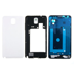 Shell houSeS online shopping - Original Phone Full Housing Bezel Cover Case shell for Samsung Galaxy Note N900 N9005 Repair Parts free DHL
