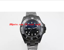 coating pvd 2020 - Luxury Watch PVD Coating 116660 Men's Stainless Steel Blue Black Dial Ceramic 44MM Automatic Mechanical Men's