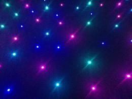 $enCountryForm.capitalKeyWord Australia - 4pcs lot 3mx6m RGB 3in1 LED Star cloth DJ LED Backdrops Star Curtain Wedding Decoration with One Remote controller