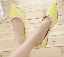 $enCountryForm.capitalKeyWord Canada - Spring autumn new female shoes in Europe and the rivet shoes pointed flats shallow single mouth