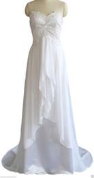 Cheap Plus Size Wedding Dresses UK - 2017 New Chiffon Wedding Dresses with Appliques Beaded Cheap Plus Size Lace Up Bridal Gowns Stock Size 2-16 QC110
