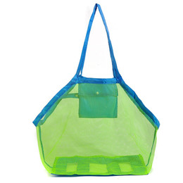 Discount sand tote - Kids Mesh Beach Bag Toys Storage Towels Sand Away Large Family Ball Bag Large Foldable Sand Away Beach Mesh Bag