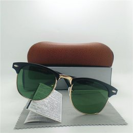 Glasses Sun Protection Canada - High quality Glass Lens Brand Designer Fashion Men and Women Sunglasses UV Protection Sport Vintage Sun glasses With Brown box