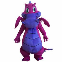 Wholesale adult size dragon costume online – ideas Big Purple Dragon Mascot Costume Fancy Dress Outfit Dress Shipping Adult Size
