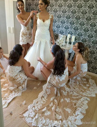 Discount lace asymmetrical bridesmaid dresses - Sexy Luxury Champagne High Low Bridesmaid Dress Beaded Lace Mermaid Bridesmaid Dresses Sweetheart Wedding Bridesmaid Gow
