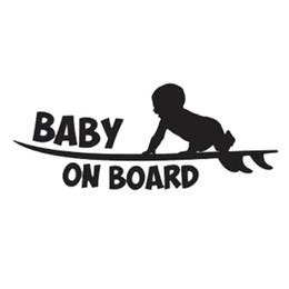 Orange Car Logo NZ - 19.1cm*7.6cm Car Styling Warning Logo Baby On Board Cute Vinyl Car Tail Stickers