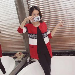 $enCountryForm.capitalKeyWord Australia - Fashion-nice New Fall Winter Female Sweater Coat Long Sleeve Round Collar Loose Pocket Knit Cardigan Women Folk Contrast Color Sweater