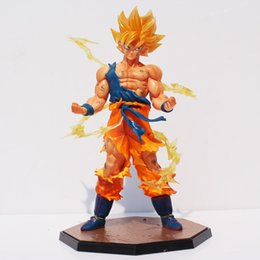 $enCountryForm.capitalKeyWord Australia - Dragon ball Dragon Ball Z Super Saiyan Son Gokou PVC Action Figure Goku Figures Collection Model Toy Gift With Box 17cm