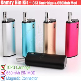 Chinese  Authentic Kamry BIN 510 cartridges Vape pen wax Thick Oil BUD CE3 PE Tank BIN Box Mod Portable Mini kits Atomizers Portable Mini Vaporizer D manufacturers